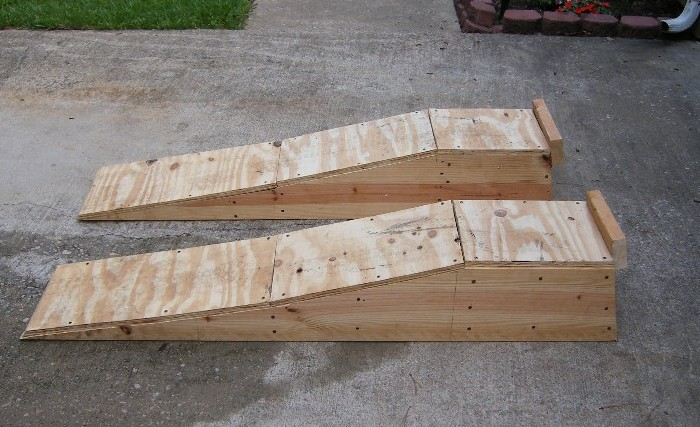 how to build car ramps out of wood